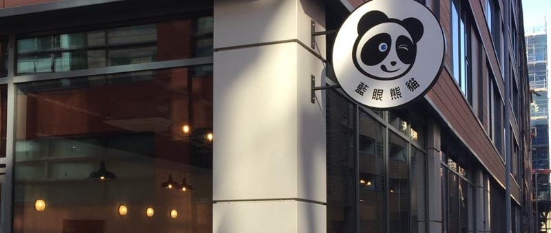 Exterior of Blue Eyed Panda  Manchester